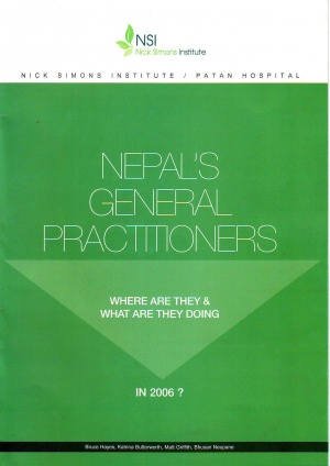 Nepal General Practitioners - Where are they and What are they doing?